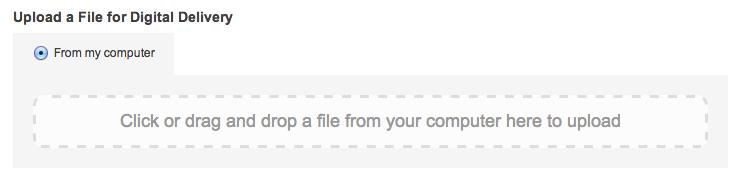 Upload digital file form